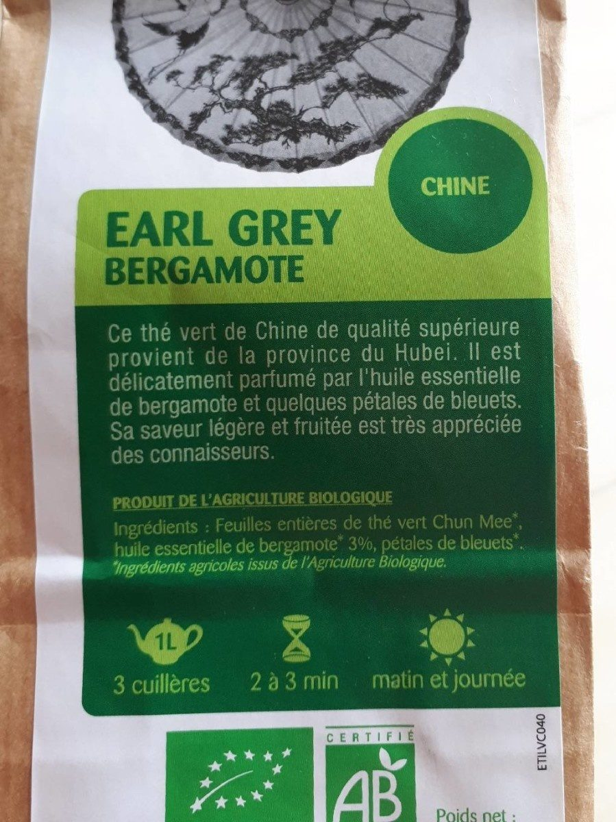 Thé vert Earl Grey Bergamote - Product - fr