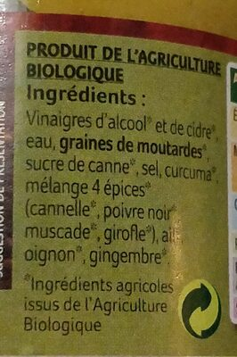 Moutarde Douce Aux Aromates - Ingredients
