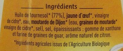 Mayonnaise L'authentique - Ingrédients