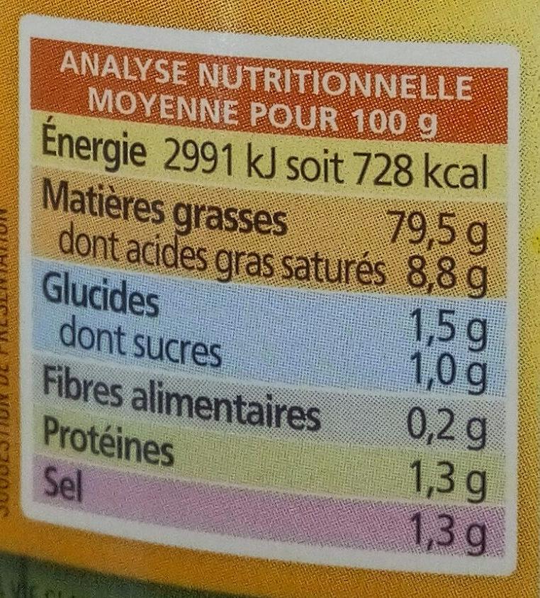 Mayonnaise L'authentique - Informations nutritionnelles