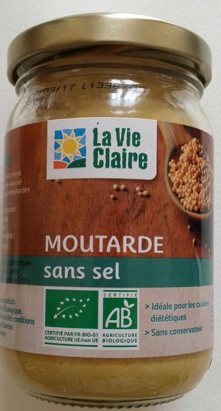 Moutarde sans sel   La vie claire   9 g