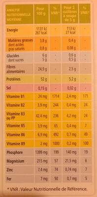 Levure de bière en paillettes - Voedingswaarden - fr