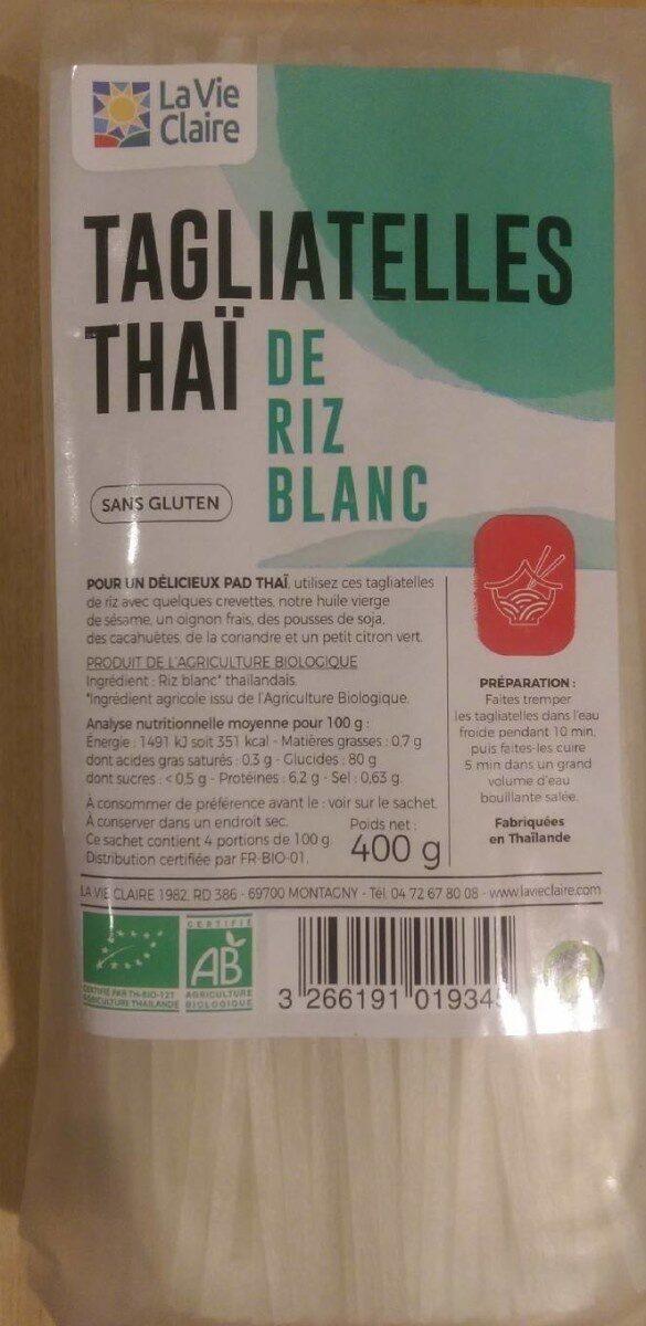 Tagliatelles thaï de riz blanc - Produit - fr