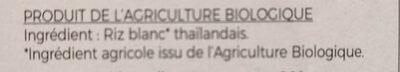 Tagliatelles thaï de riz blanc - Ingrédients - fr