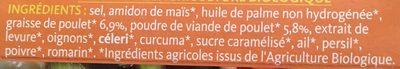 Bouillon cube volaille - Ingrédients