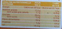 Bouillon cube volaille - Informations nutritionnelles