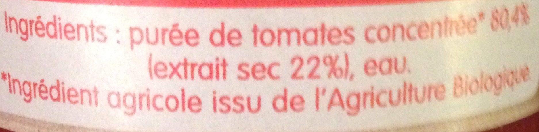 Concentré de tomates - Ingrédients - fr