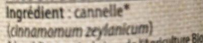Canelle moulue - Ingrédients