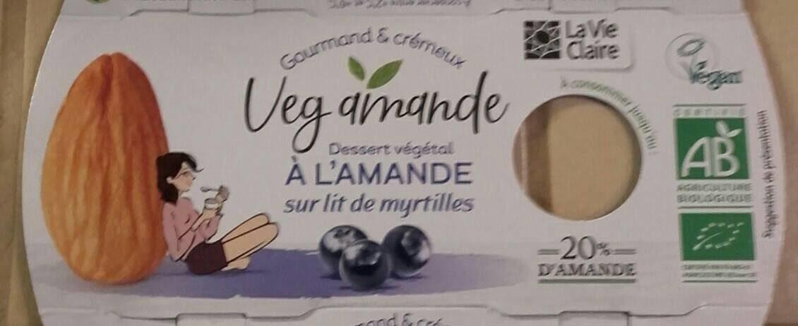 Dessert végétal à l'amande sur lit de myrtilles - Produit