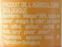 Chutney de mangues - Ingredients
