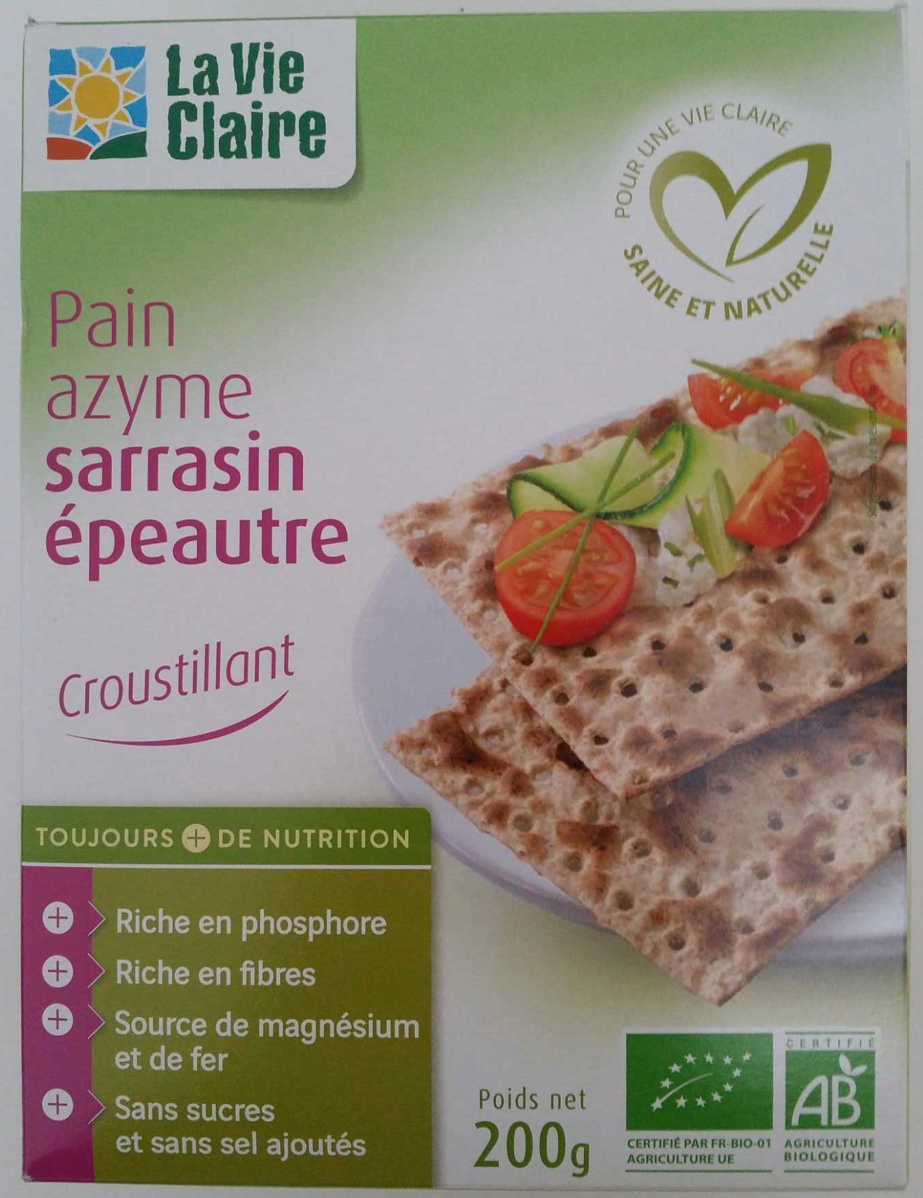Pain azyme sarrasin épeautre - Prodotto - fr