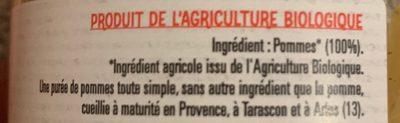 Puree de pomme - Ingredients