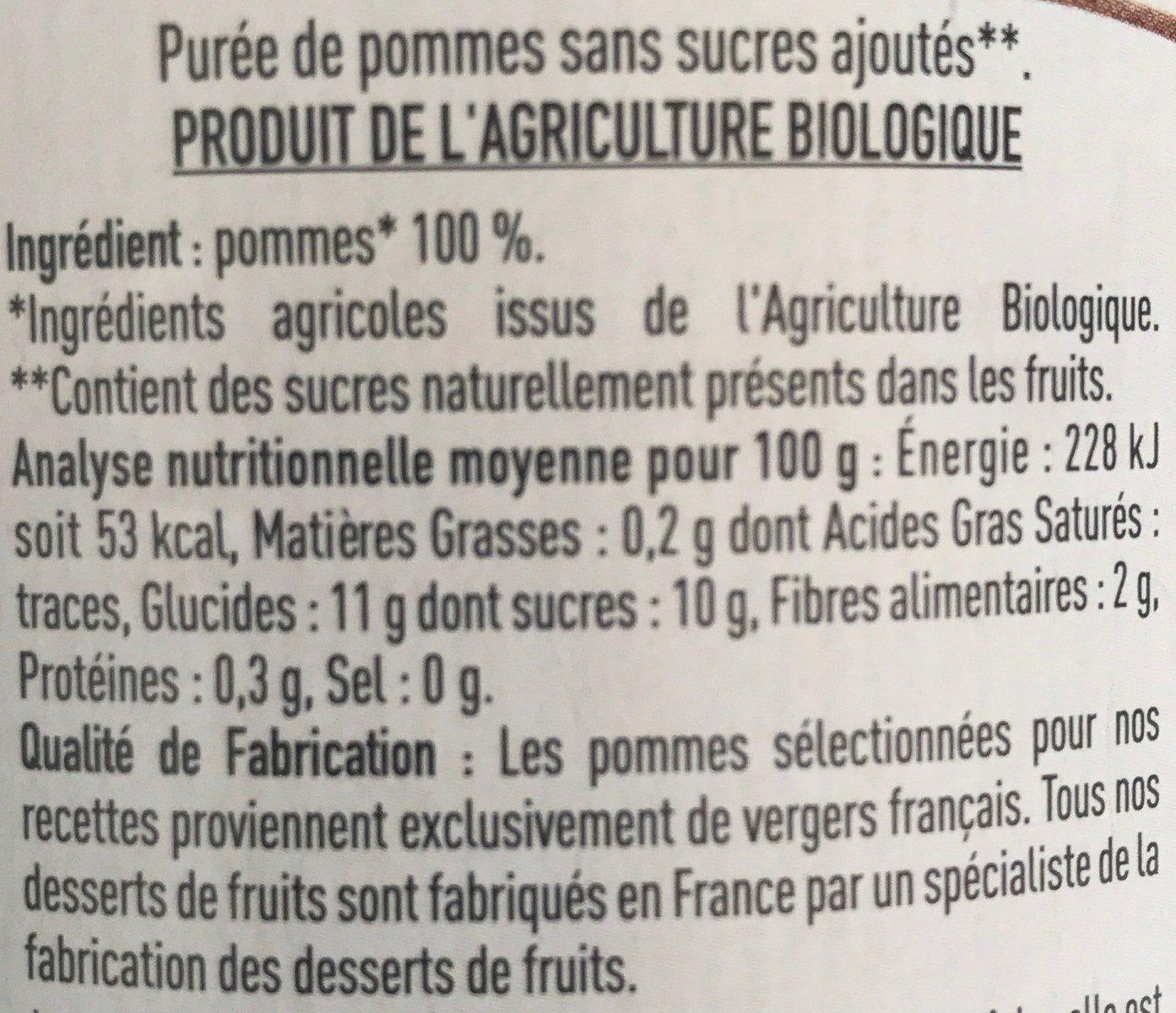 Purée Pommes - Ingredienti - fr