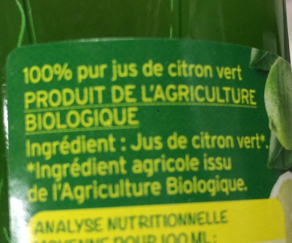 100% PUR Jus De Citron - Ingrédients - fr