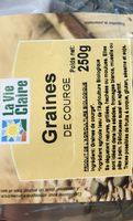 Graines de courge - Ingredients - fr