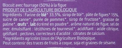 Barres fourrées à la Figue - Ingredients