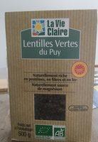 Lentilles vertes du Puy - Product
