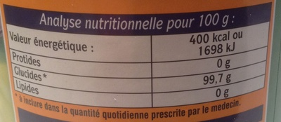Fructose cristallisé - Informations nutritionnelles - fr