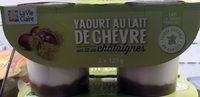 Yaourt au Lait de Chèvre sur Lit de Châtaignes - Produit - fr