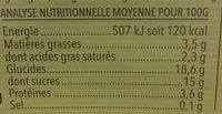Yaourt au Lait de Chèvre sur Lit de Châtaignes - Informations nutritionnelles - fr