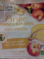 Purée Pommes Bananes 100% Fruits - Product
