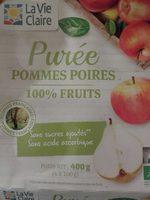 Purée pommes poires 100% fruits - Produit - fr