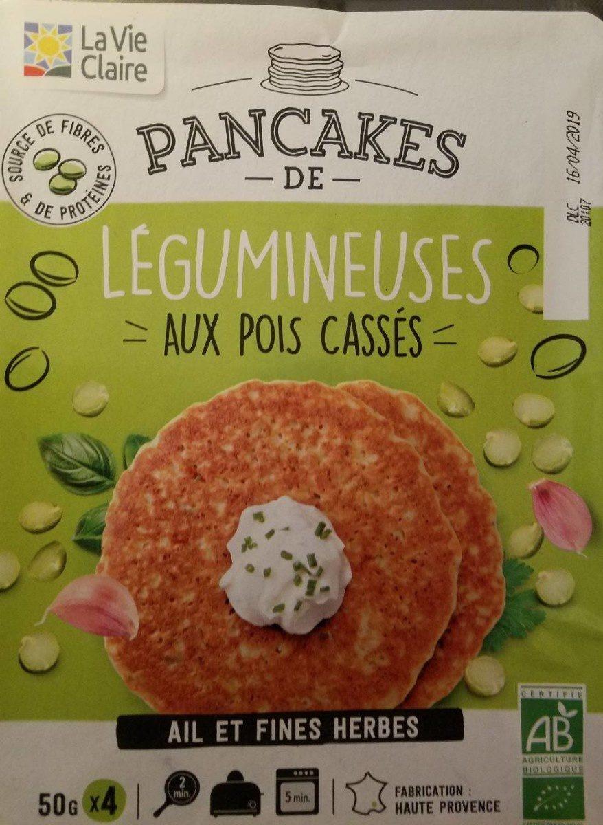 Pancake de légumineuses aux pois casses - Produit - fr