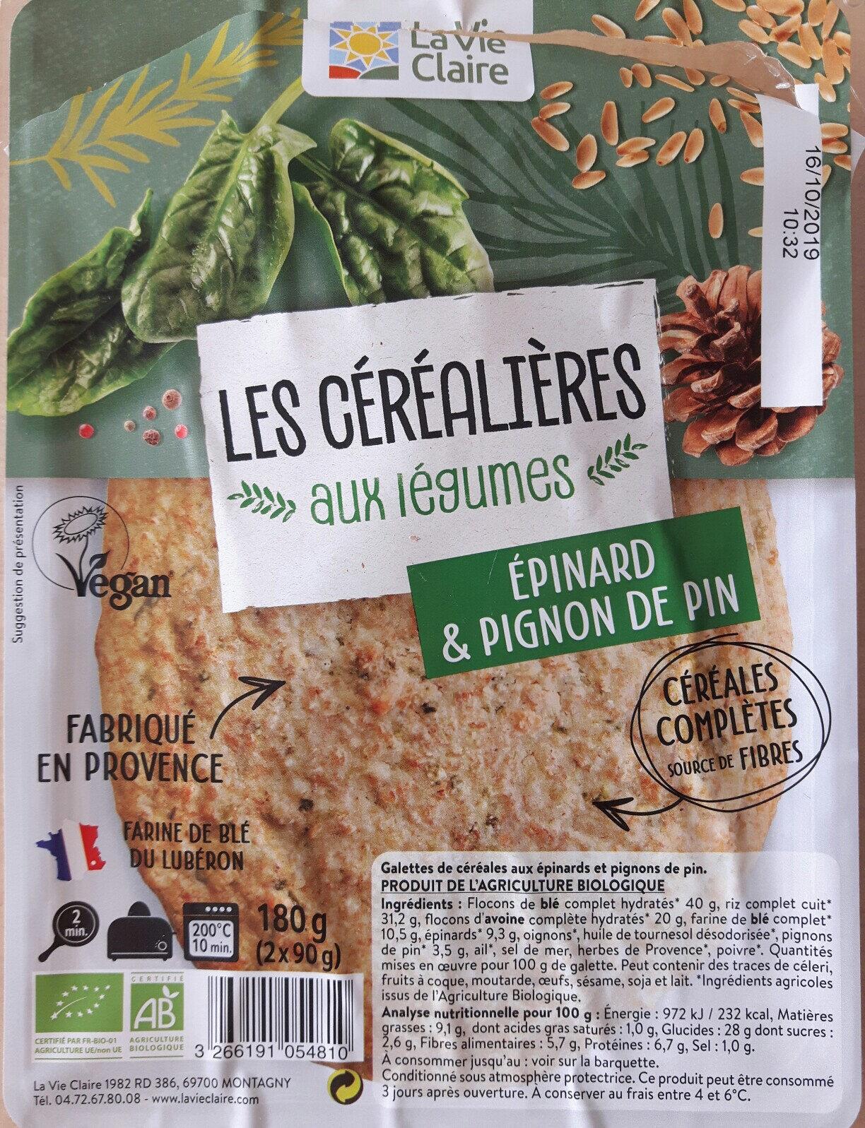 2 galettes de céréales - épinards & pignons de pin - Product - fr