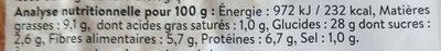 2 galettes de céréales - épinards & pignons de pin - Nutrition facts - fr