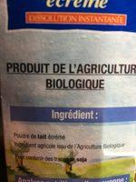 Lait en poudre écrémé - Ingrediënten