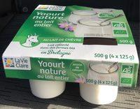 Yaourt nature entier au lait de chèvre - Product - fr