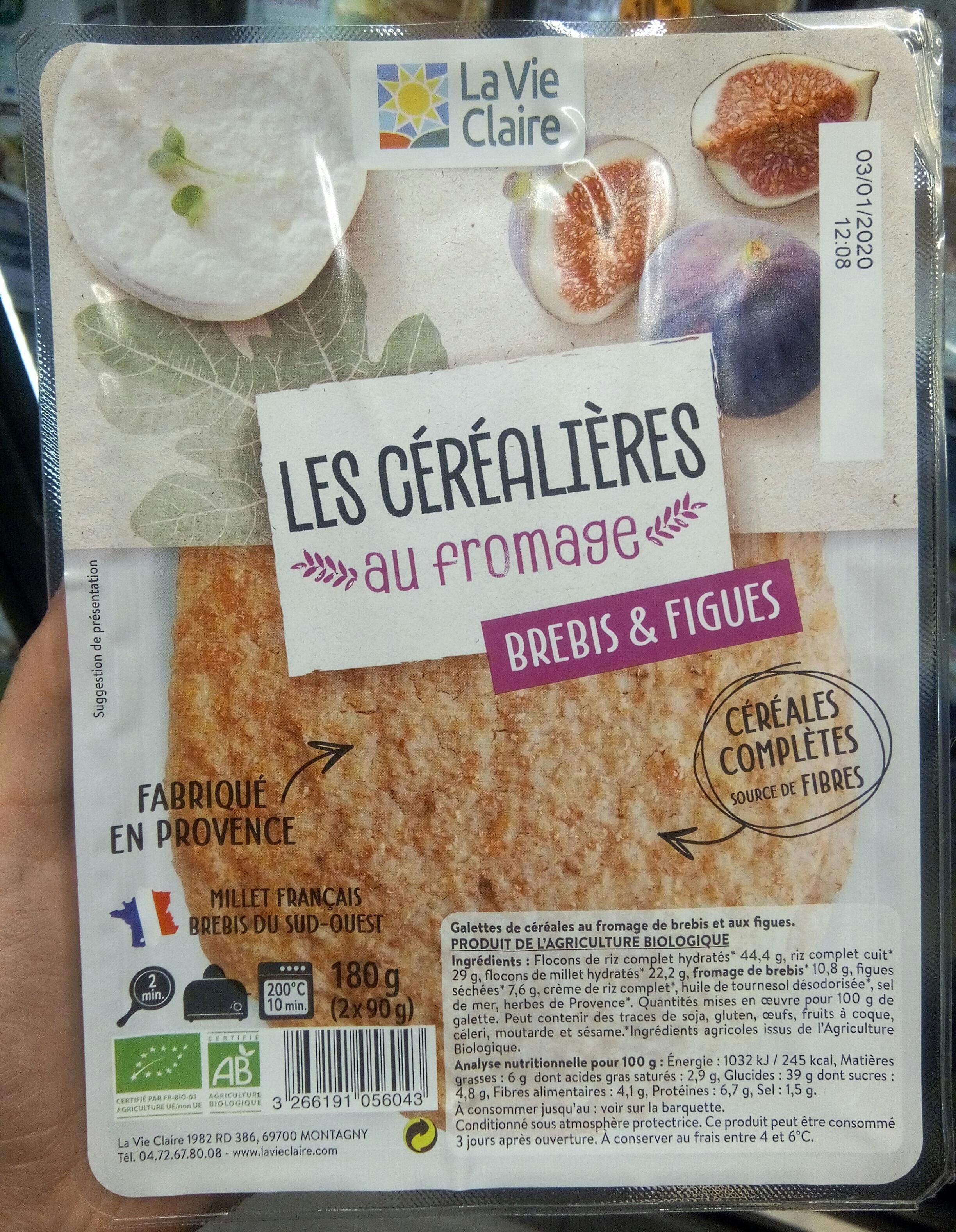 2 Galettes de Céréales Brebis & Figues Prêtes à déguster - Product - fr