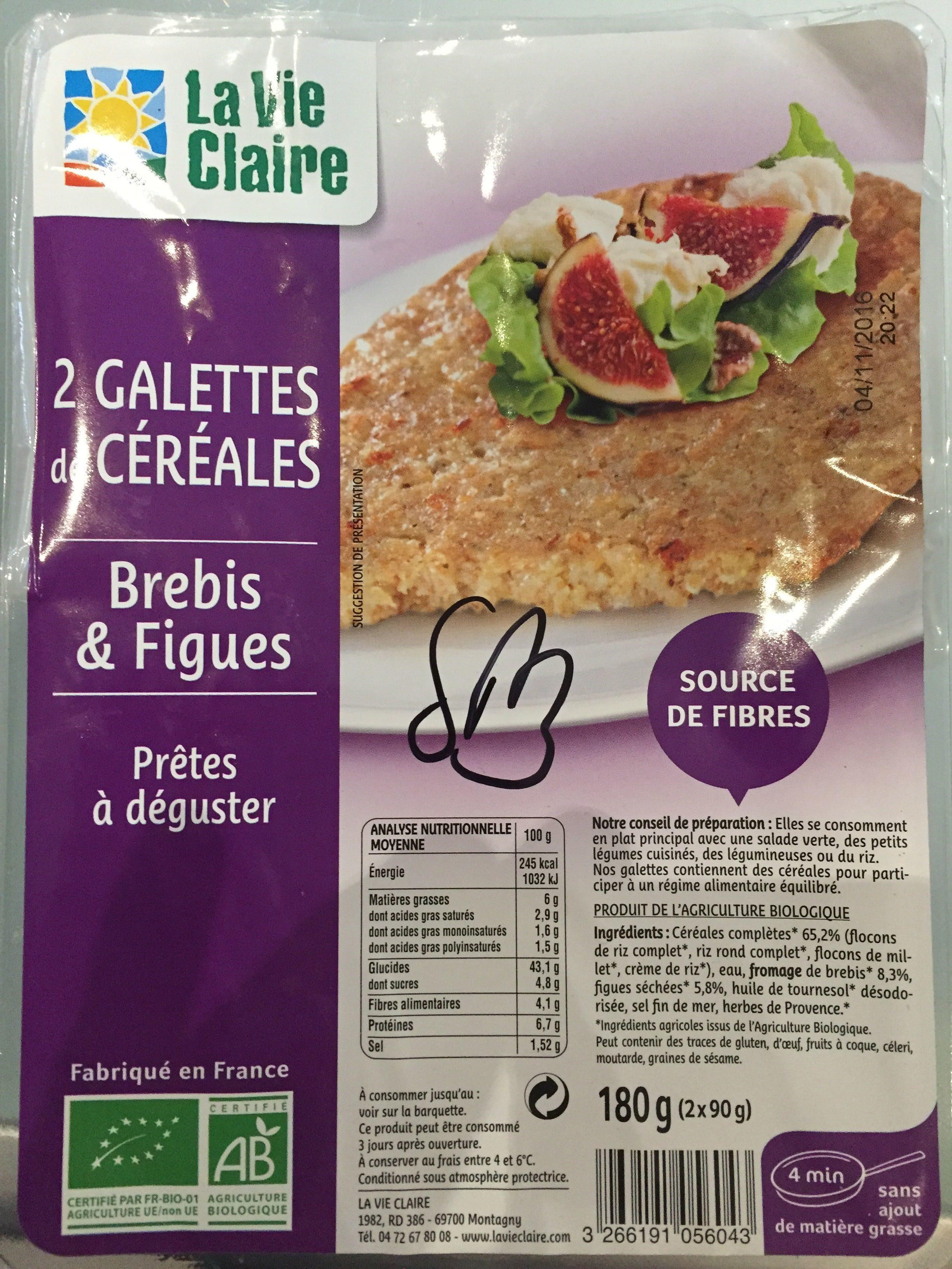 2 Galettes de Céréales Brebis & Figues Prêtes à déguster - Product