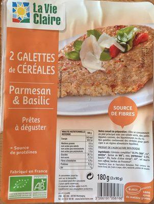 Galette de céréales Parmesan Basilique - Product