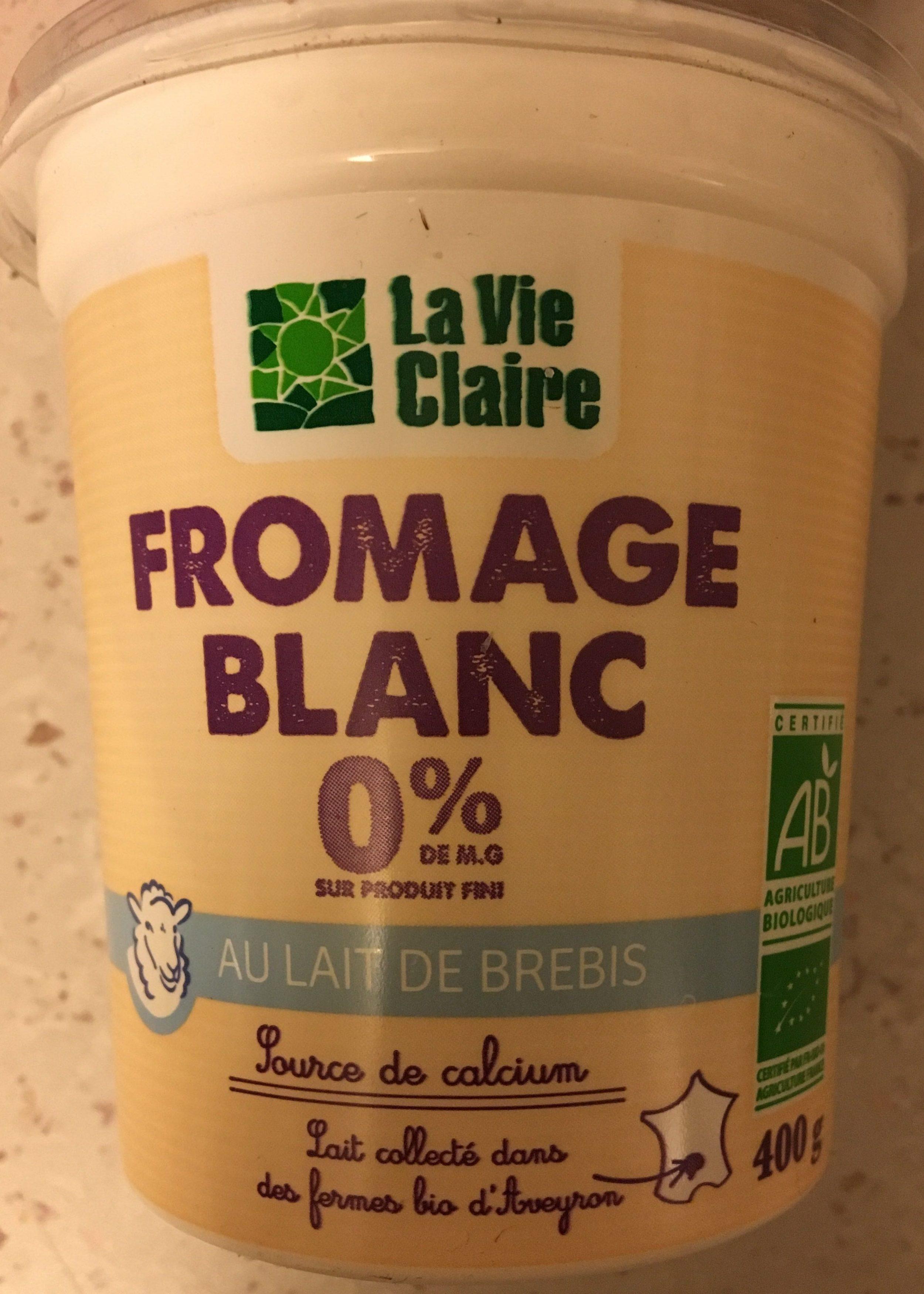 fromage blanc 0 au lait de brebis la vie claire 400 g. Black Bedroom Furniture Sets. Home Design Ideas