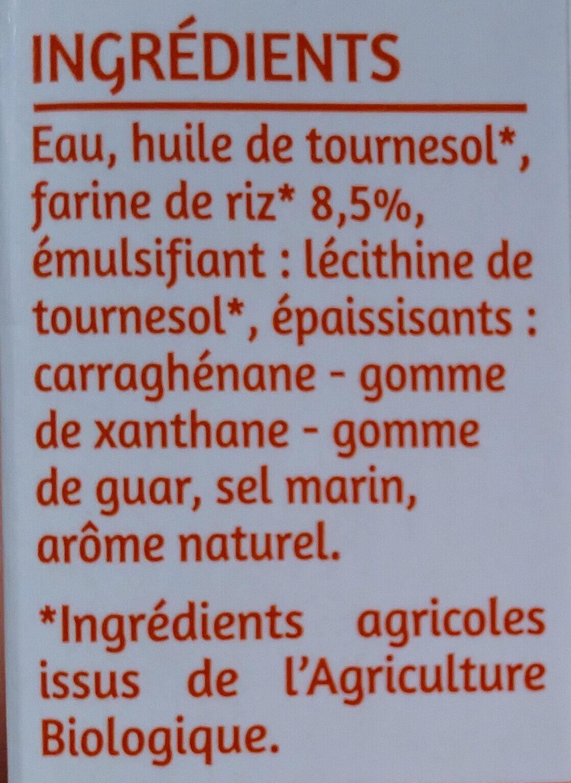 Riz cuisine 100% végétal - Ingredients - fr