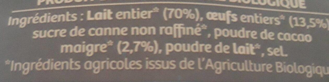 Crème renversée parfum chocolat - Ingredienti - fr