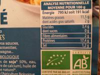 Tofu haché bio - Valori nutrizionali - fr