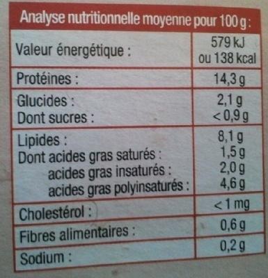 Tofu fumé - Voedingswaarden - fr