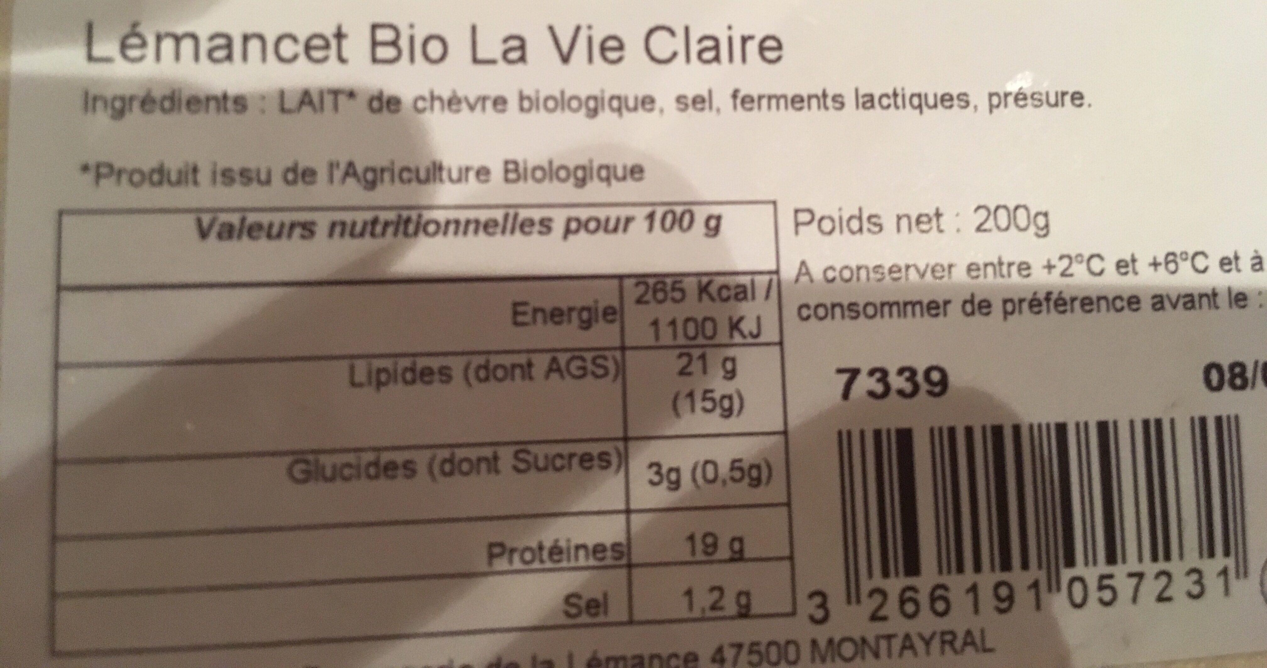 Fromage moulé - Ingredienti - fr
