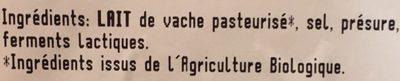 Gouda jeune - Ingrediënten - fr