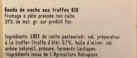 Gouda aux truffes - Ingrediënten - fr