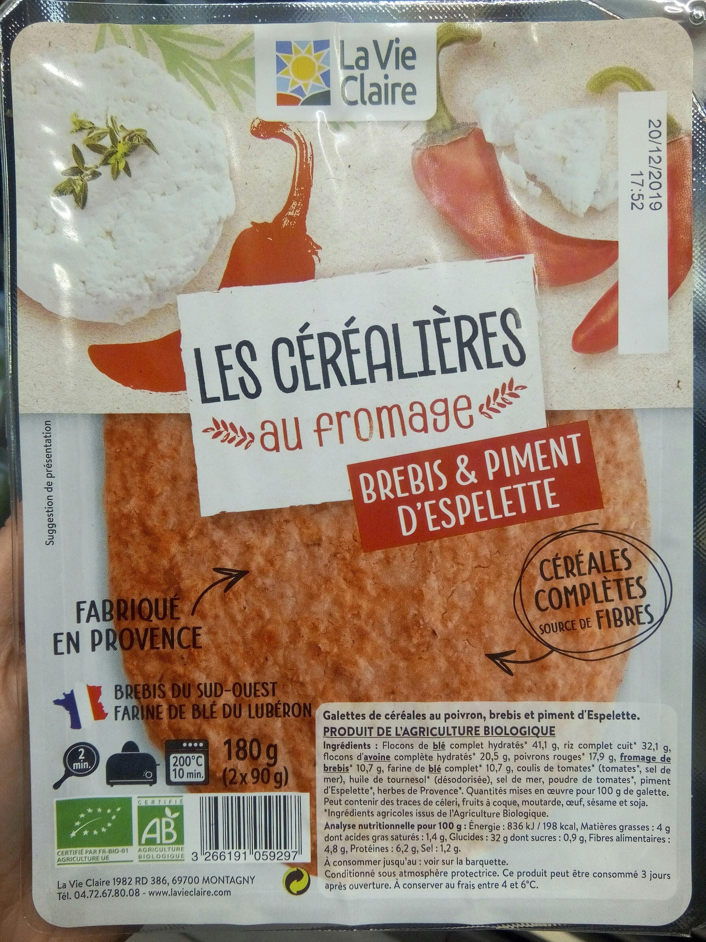 Les cerealiaires au fromage brebis et piment - Product
