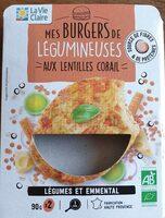 Mes burgers de légumineuses aux lentilles corail - Produit