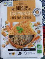 Burger légumineuses aux pois chiches - Product