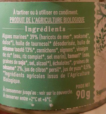 Tartare d algues au sésame et yuzu - Ingredients