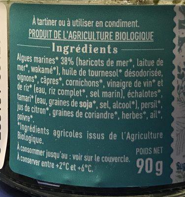 Tartare d'algues nature - Ingrédients - fr