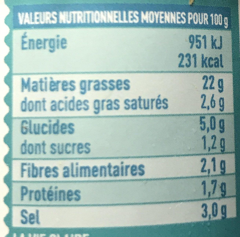Tartare d'algues nature - Informations nutritionnelles - fr
