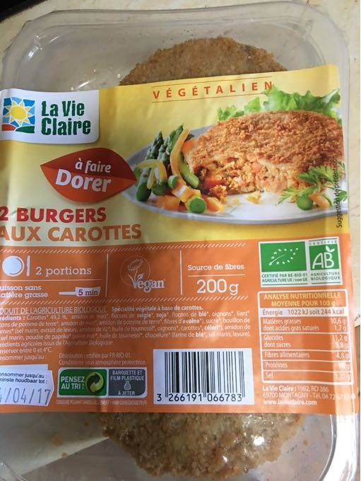 Burgers Aux Carottes - Product