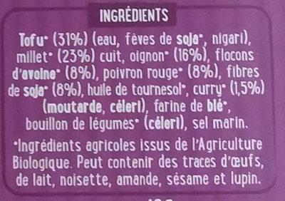 Vegetal burger au curry - Ingrediënten
